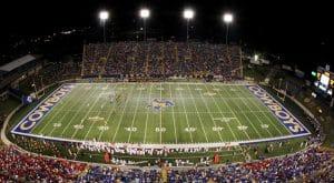 Cowboy Stadium ranks in FCS top 10 football stadiums.