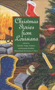 Book cover of living room of Christmas decorations for Christmas Stories from Louisiana