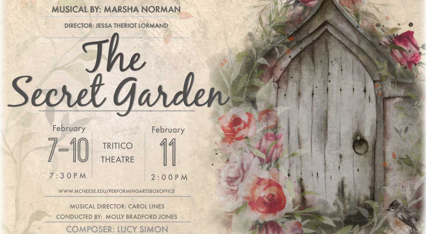 The Secret Garden informational poster