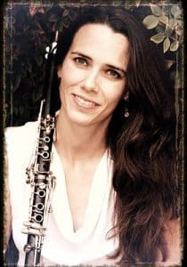 Jennifer Isles with her clarinet