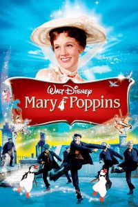 Movie poster featuring Julie Andrews as Mary Poppins