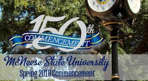 Spring 2018 commencement program cover