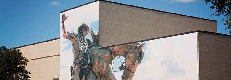 Shearman Fine Arts Building Cowboy Mural