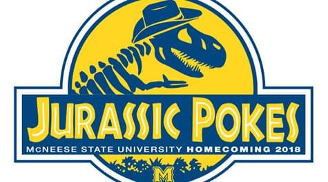 Jurassic Pokes Homecoming Logo