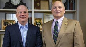 B.J. Hebert and Dr. Daryl Burckel