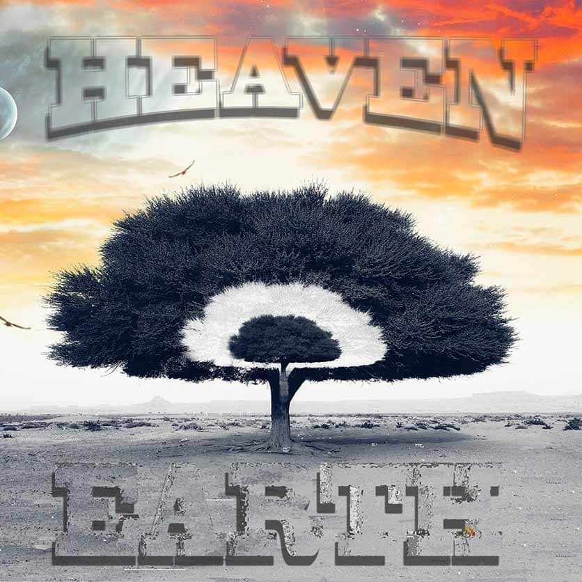 Heaven and Earth poster with a cut out tree