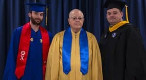 Three generations of the McRight family were part of McNeese State University's 2019 spring commencement. From left to right: Blake, Kelly and Jason McRight.
