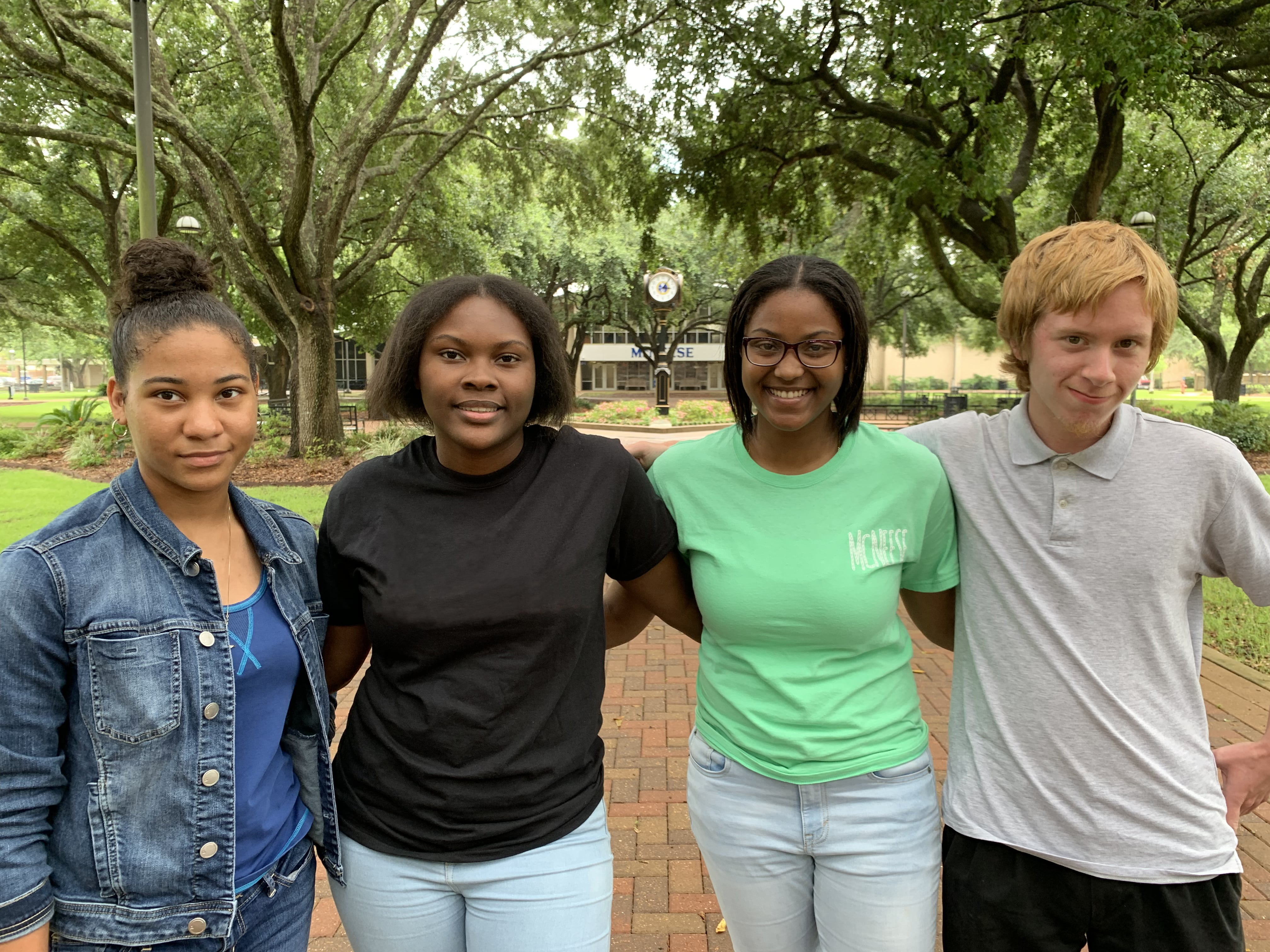 Portrait of students Takyra Gauthier, Audriana Obey, Jonae Vital and Alexander Roach