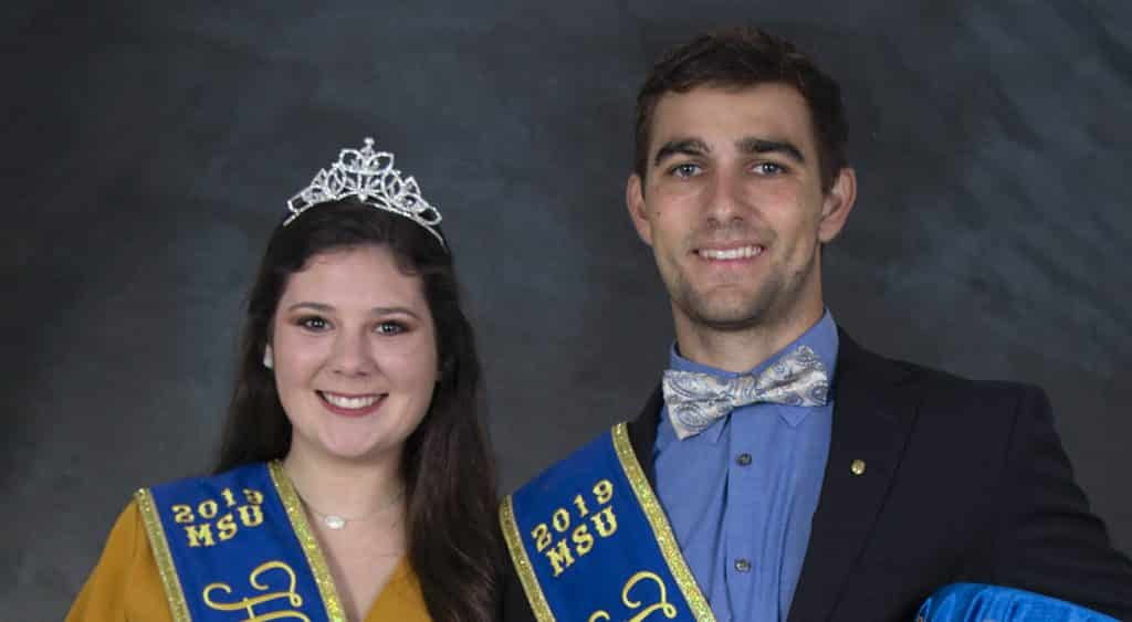 McNeese State University Homecoming Queen Hailey Goodwin and King Steven Gros and their court were presented during halftime ceremonies at the Cowboys vs. Houston Baptist Huskies football game on Saturday, Oct. 19, in Cowboy Stadium.