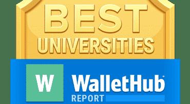 Wallet Hub Best Universities Badge