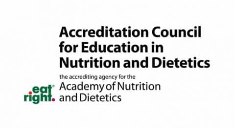 Accreditation Council for Education in Nutrition and Dietetics logo
