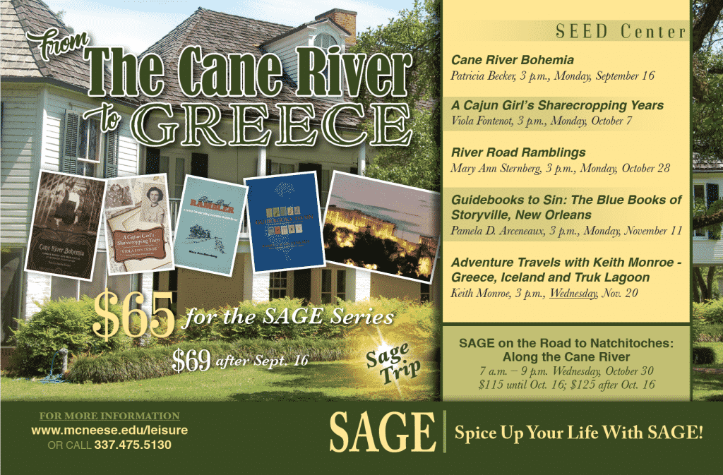 Schedule of upcoming SAGE events