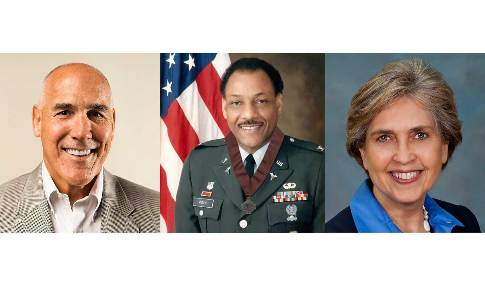 John Miller, Col. Polk and Cynthia Rougeau