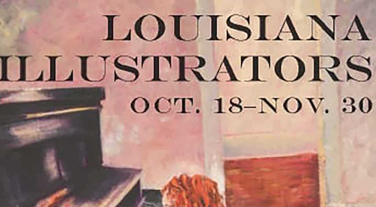 A pastel poster of the Louisiana Illustrators Exhibit