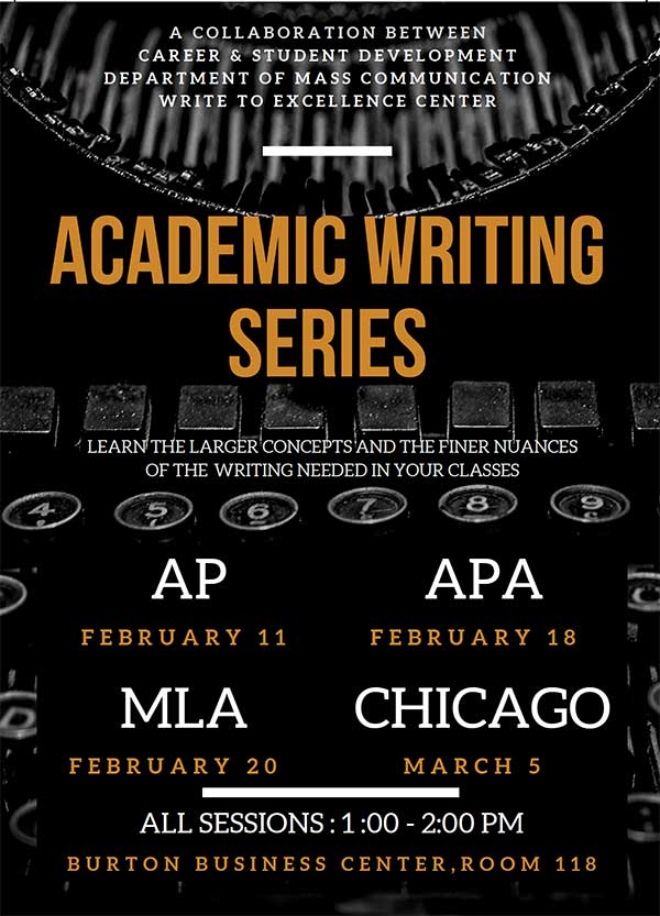 Writing Series Flyer