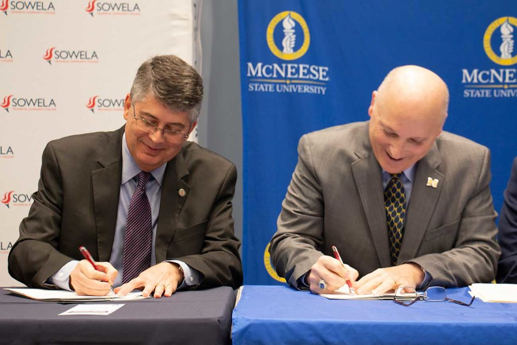 Aspinwall and Burckel sign MoU agreement