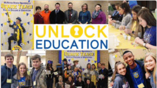 A collage of photos showcasing the fun activities at Unlock Education