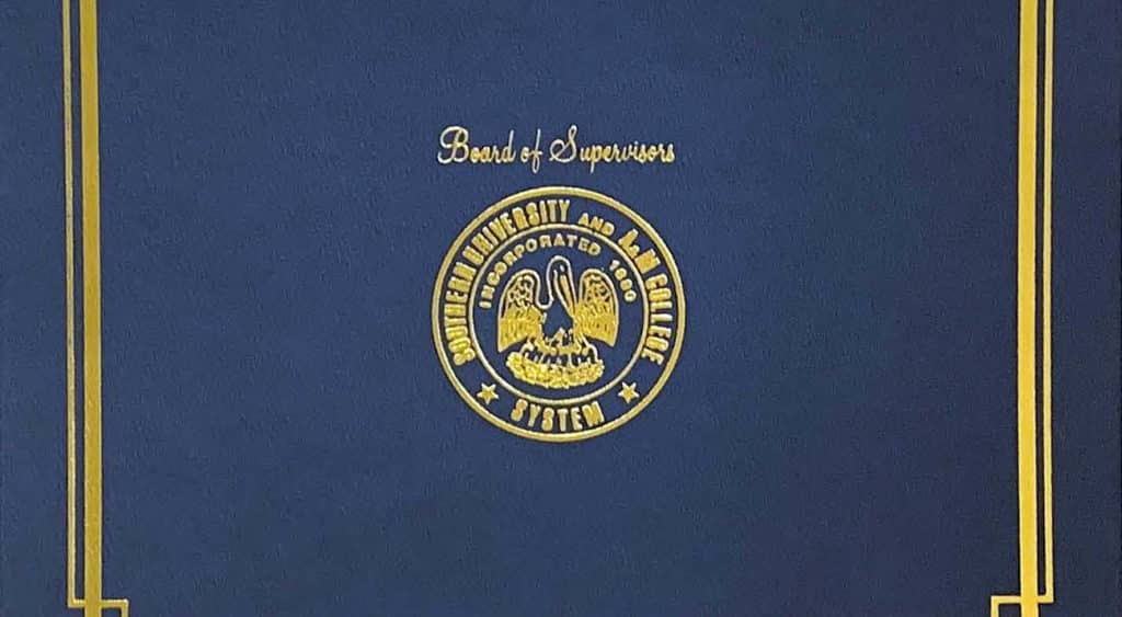 The Proclamation cover from Southern University.