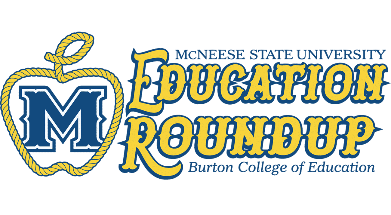 A lasso rope makes an Apple for the Education Roundup logo