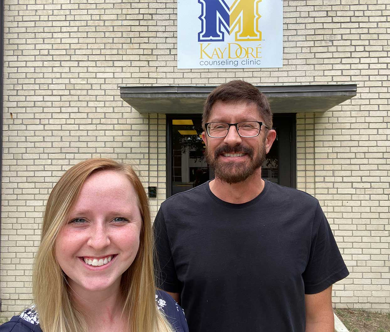 Caitlyn Kudrecky (left) and Dr. Kevin Yaudes.