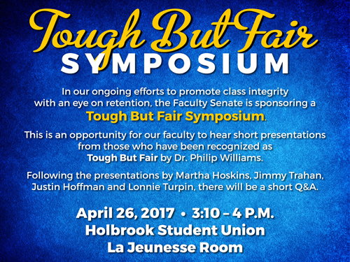 Tough but Fair Symposium