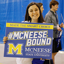 Academic Signing Day 2017 Girl with Yard Sign
