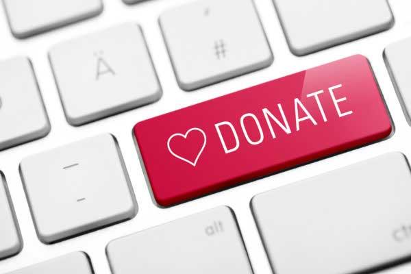 Donate button decoration