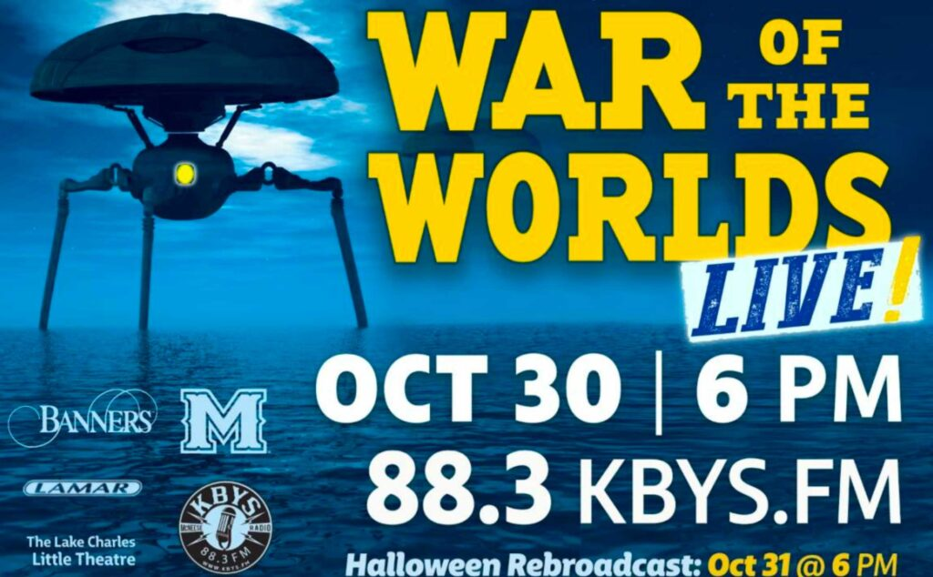 War of the worlds advertisement