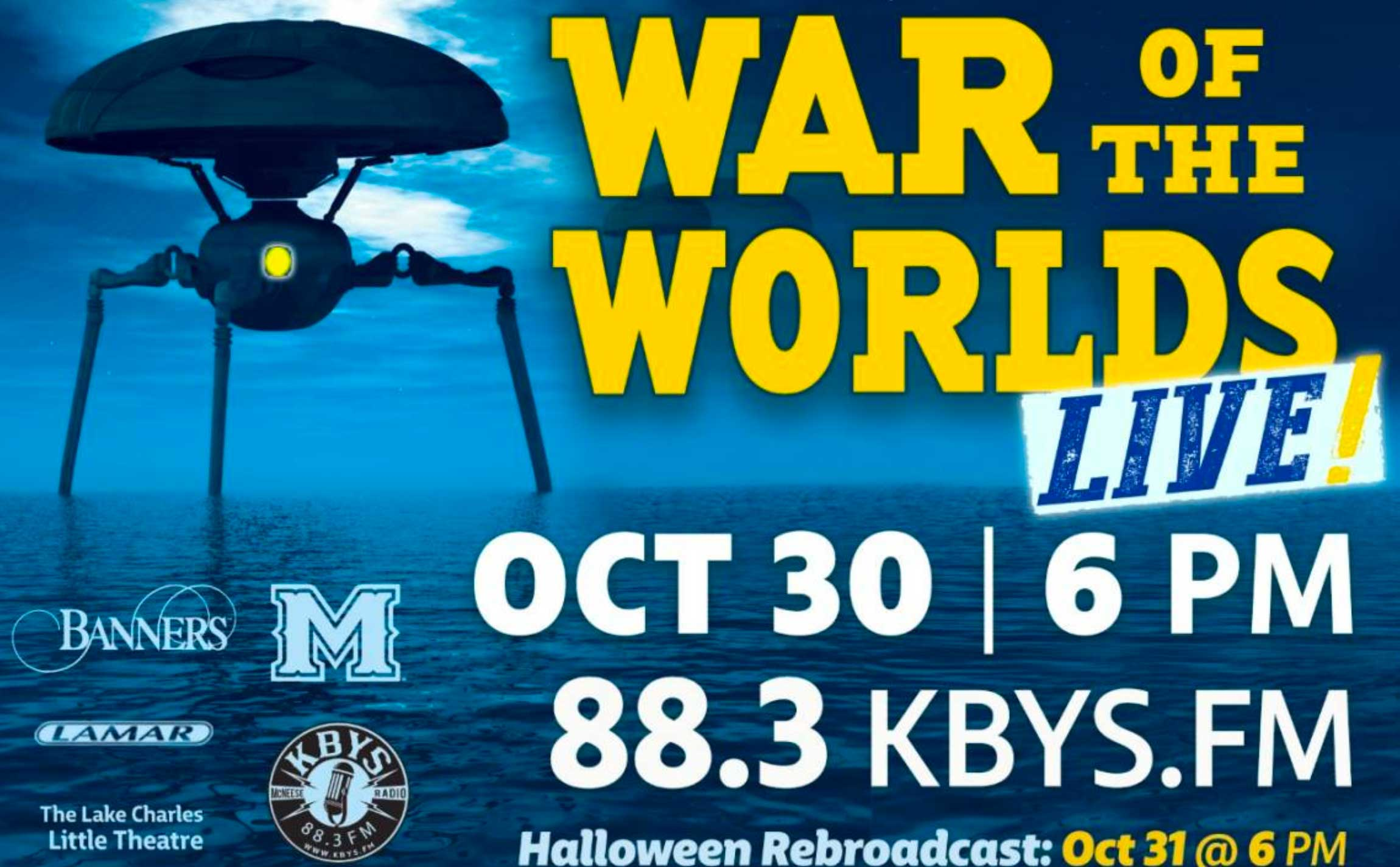 War of the worlds advertisement