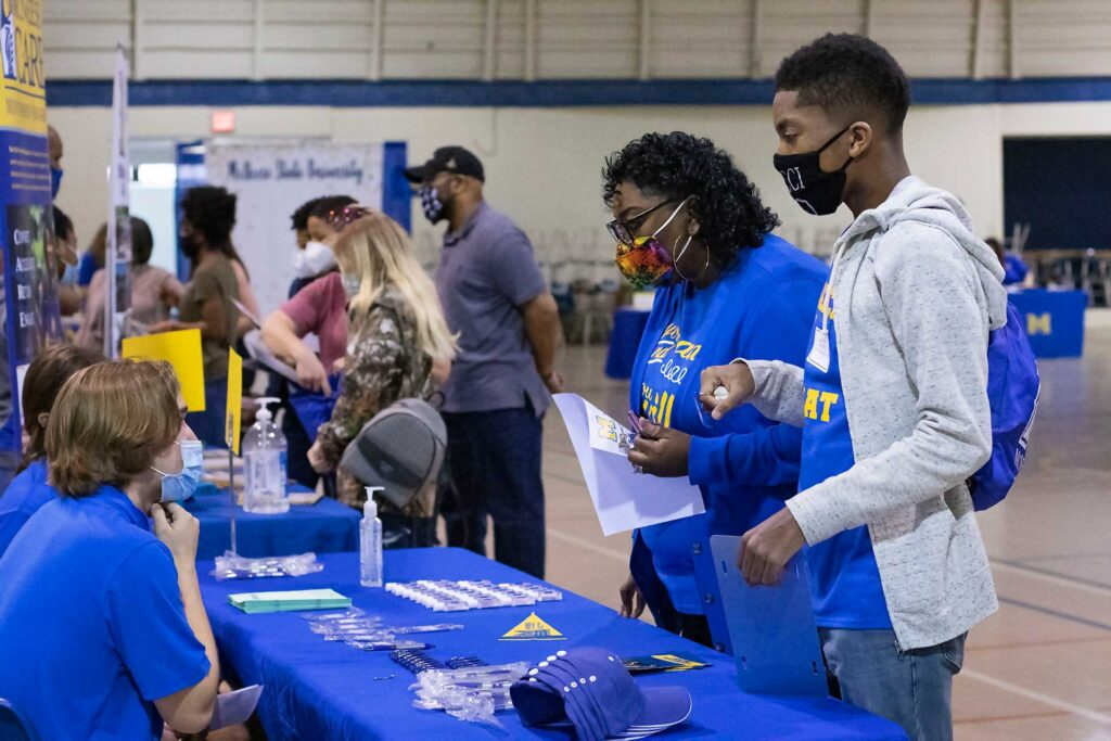 Prospective McNeese student at preview day