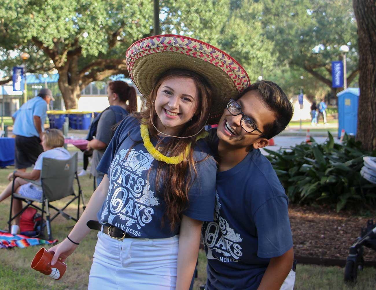 McNeese Student celebrate Pokes in the Oaks