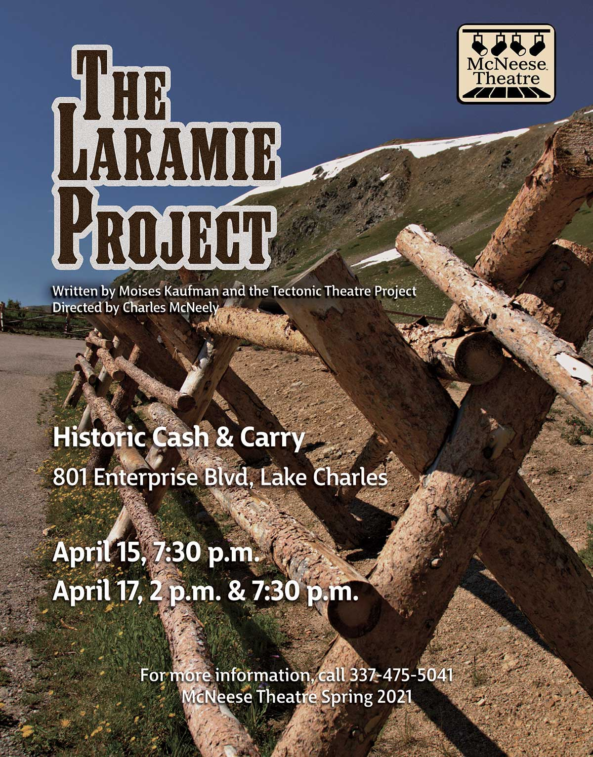 McNeese Spring Theatre presents the Laramie Project