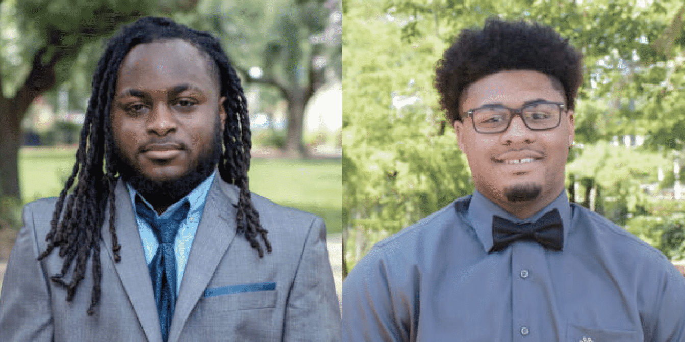 McNeese State University students Malaki Johnson, left, and Isaiah Johnson, right, were recently selected to participate in the inaugural Reginald F. Lewis Scholars program.